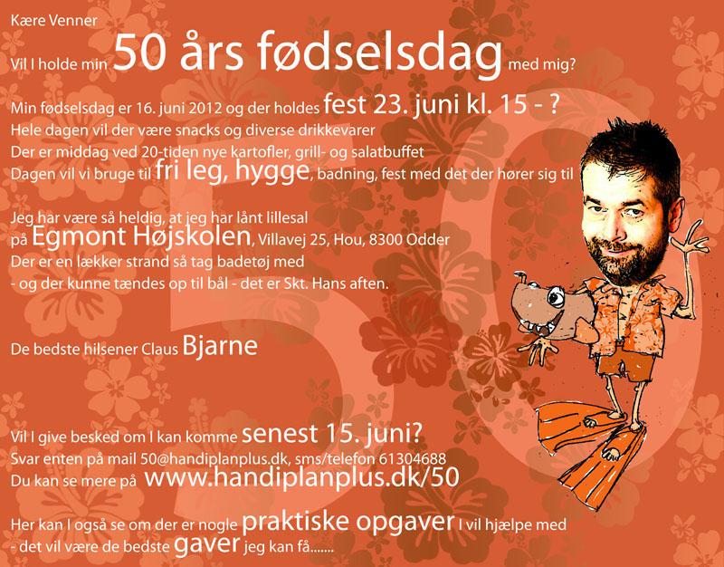 50 års fødselsdag invitation